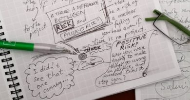 Daily habit of writing with risk awareness in Project Management.