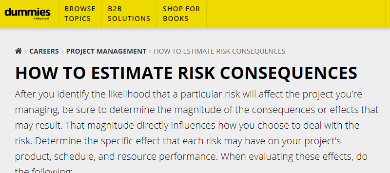How to estimate risk consequences
